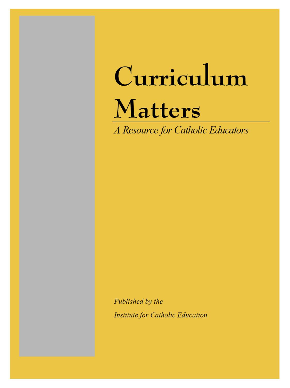 Curriculum Matters