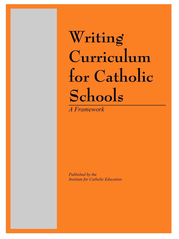 Writing Curriculum for Catholic Schools